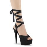 Kunstleder 15 cm DELIGHT-634 pleaser sandaletten mit plateau