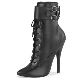 Kunstleder 15 cm DOMINA-1023 Schwarze high heels stiefeletten