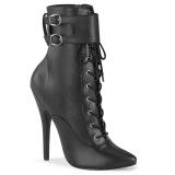 Kunstleder 15 cm DOMINA-1023 ankle boots stiletto high heels