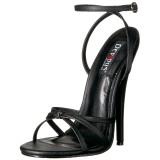 Kunstleder 15 cm Devious DOMINA-108 Sandaletten mit high heels