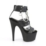 Kunstleder 18 cm ADORE-761 platform high heels schuhe