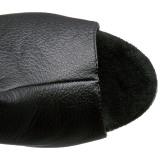 Kunstleder 18 cm BEJEWELED-DM-7 overknee stiefel mit strass plateau