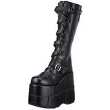 Kunstleder 18 cm STACK-308 Plateau Gothic Stiefel Herren