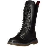 Kunstleder 3,5 cm RIVAL-300 Schwarze punk stiefel mit schnürung