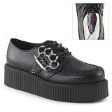 Kunstleder 5 cm V-CREEPER-516 Creepers Schuhe Herren