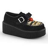 Kunstleder CREEPER-213 Plateau Creepers Schuhe Damen
