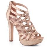 Kupfer 11,5 cm Pleaser SELENE-24 Sandaletten mit High Heels