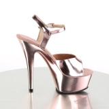 Kupfer 15 cm KISS-209 High Heels Plateauschuhe