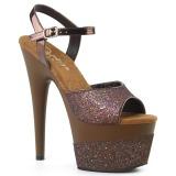 Kupfer 18 cm ADORE-709-2G glitter plateau sandaletten