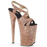 Kupfer 23 cm INFINITY-930LG glitter plateau high heels
