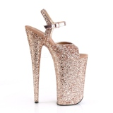 Kupfer 25,5 cm BEYOND-010LG glitter plateau high heels