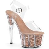Kupfer glitter 18 cm Pleaser ADORE-708G pole dance high heels schuhe