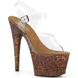 Kupfer glitter 18 cm Pleaser ADORE-708LG pole dance high heels schuhe