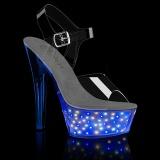 LED licht plateau 15 cm ECHOLITE-208 exotic pole dance sandaletten