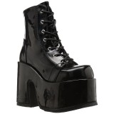 Lackleder 13 cm CAMEL-203 demonia boots mit plateausohle
