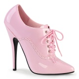 Lackleder 15 cm DOMINA-460 oxford pumps - oxford schnürpumps rosa