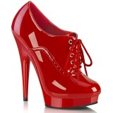 Lackleder 15 cm SULTRY-660 plateau booties high heels rot