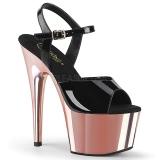 Lackleder 18 cm ADORE-709 Rosa Plateau High Heel Schuhe