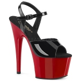 Lackleder 18 cm ADORE-709 Roter Plateau High Heel Schuhe