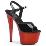 Lackleder 18 cm SKY-309T pleaser sandaletten mit plateau