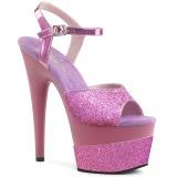 Lavendel 18 cm ADORE-709-2G glitter plateau sandaletten