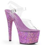 Lavendel glitter 18 cm Pleaser ADORE-708LG pole dance high heels schuhe