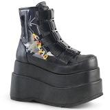 Leatherette 11,5 cm BEAR-105 lolita ankle boots platform