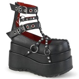 Leatherette 11,5 cm BEAR-28 lolita ankle boots platform