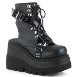 Leatherette 11,5 cm SHAKER-56 lolita ankle boots wedge platform