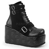 Leatherette 11 cm CONCORD-55 goth lolita platform ankle boots