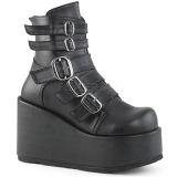 Leatherette 11 cm CONCORD-57 lolita ankle boots platform