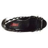 Leatherette 13,5 cm PIXIE-18 womens peep toe pumps shoes