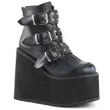Leatherette 14 cm SWING-105 lolita ankle boots wedge platform