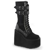 Leatherette 14 cm SWING-221 lolita knee boots goth platform boots