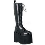 Leatherette 15 cm MEGA-602 Platform Mens Gothic Boots