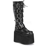 Leatherette 15 cm MEGA-618 Platform Mens Gothic Boots