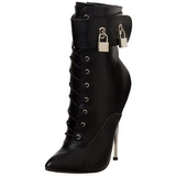Leatherette 16 cm DAGGER-1023 Lace Up Ankle Calf Women Boots