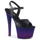 Leatherette 18 cm SKY-309BP platform pleaser sandals