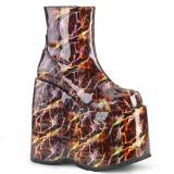 Leatherette 18 cm SLAY-204LBH lolita ankle boots platform