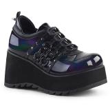 Leatherette 8 cm SCENE-31 lolita shoes gothic platform shoes