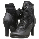 Leatherette 9,5 cm GLAM-200 Lace Up Ankle Calf Women Boots