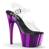 Lila 18 cm ADORE-708 Chrome Plateau High Heels