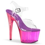 Lila 18 cm ADORE-708MCT Acryl plateau high heels