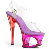 Lila 18 cm MOON-708MCT Acryl plateau high heels