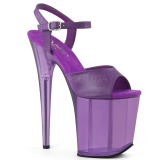 Lila 20 cm FLAMINGO-809T Acryl plateau high heels