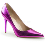 Lila Metallic 10 cm CLASSIQUE-20 Damen Pumps Stiletto Absatz