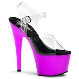 Lila Neon 18 cm ADORE-708UV Plateau High Heels