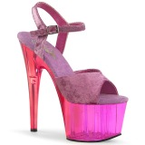 Lila Samt 18 cm ADORE-709MCT pole dance sandaletten