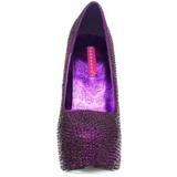 Lila Strass 14,5 cm Burlesque TEEZE-06R Plateau Damen Pumps Schuhe