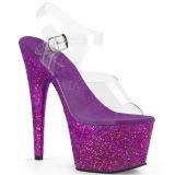 Lila glitter 18 cm Pleaser ADORE-708LG pole dance high heels schuhe